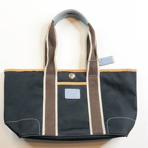 Coach HAMPTON Black Nylon Canvas Tote Shoulder Bag